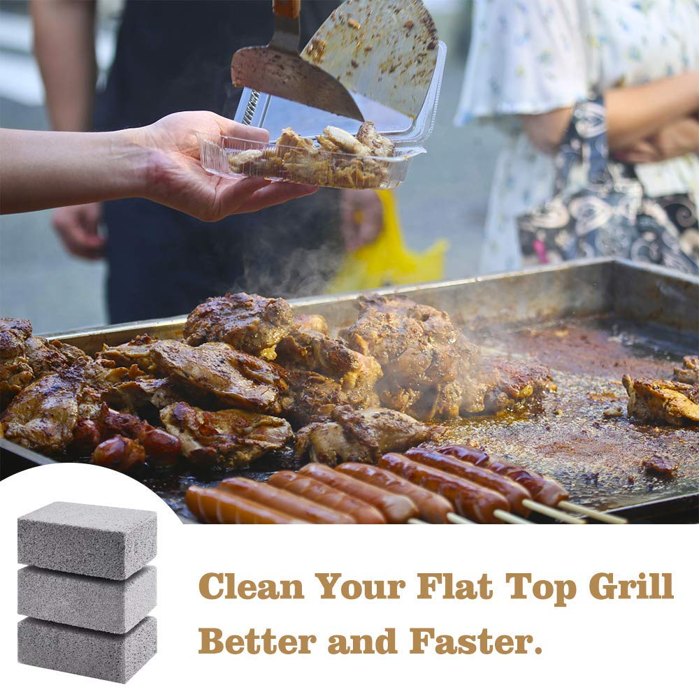 Magic stone BBQ grill cleaner ( 3Pcs) - organic Kitchen Shop