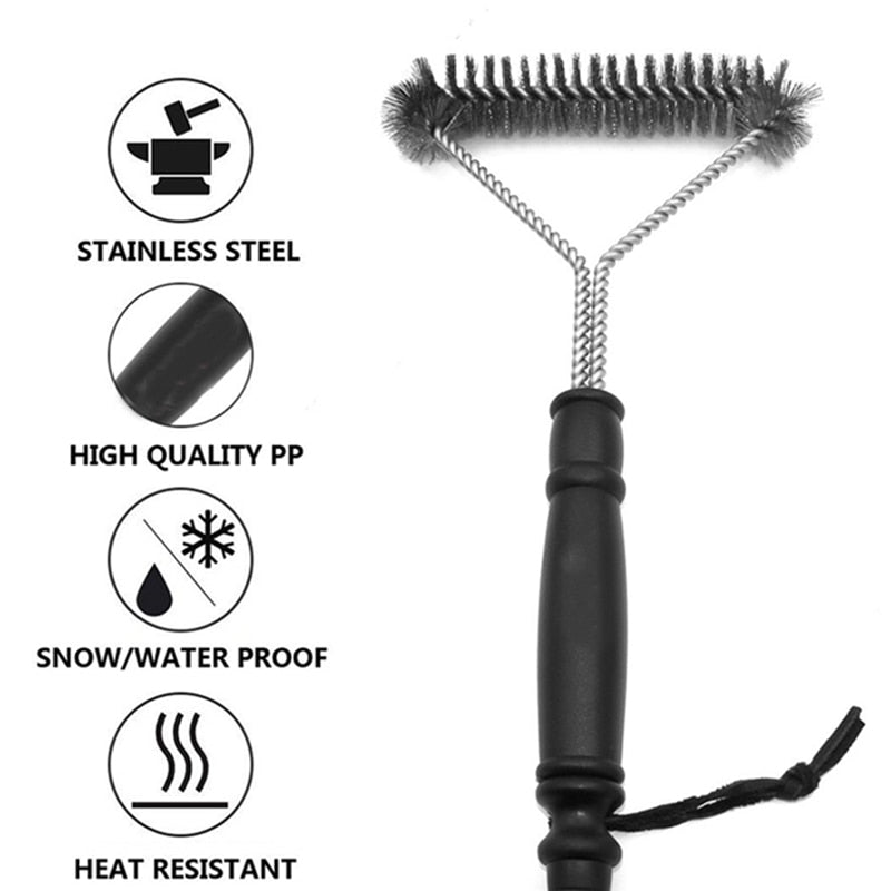 Stainless steel brush for cleaning BBQ grill - organic Kitchen Shop