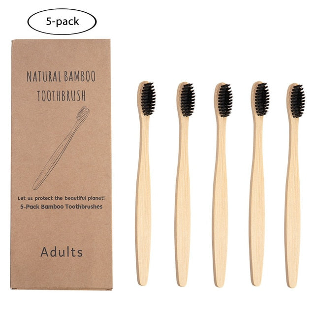 Eco Friendly Bamboo Toothbrush, value pack - organic Kitchen Shop