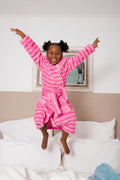 Snuggly Kids Robe Pink Stripe