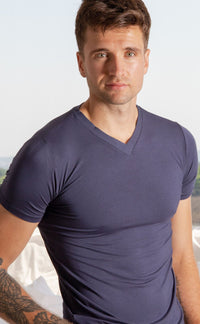 Mens Super Soft  Modal T-shirt Navy
