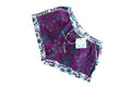 Khanga Shorts Purple Aqua White Dot