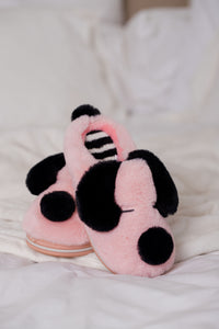 Slippers Kids Pink Dog