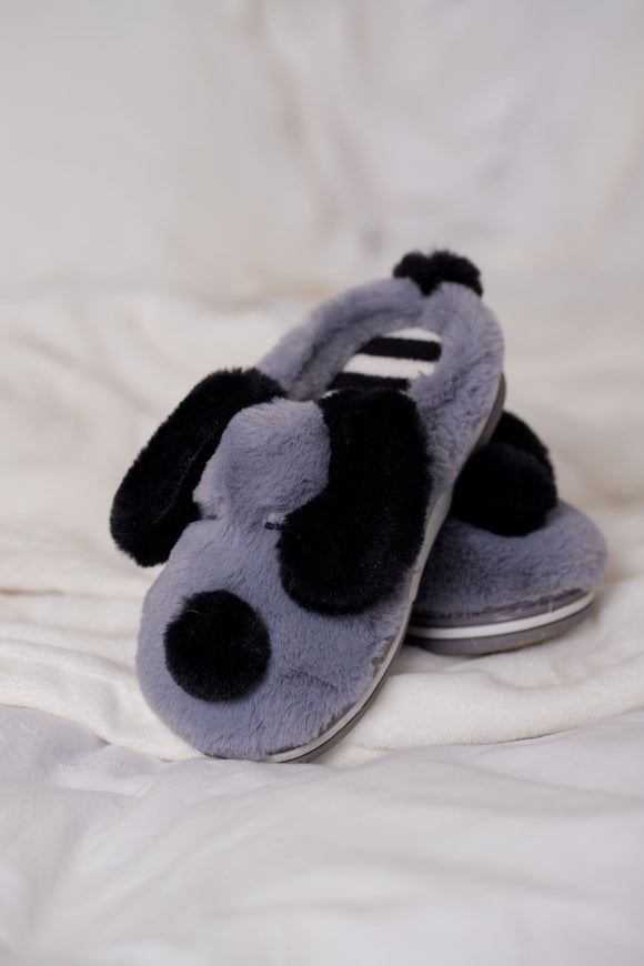 Slippers Kids Grey Dog