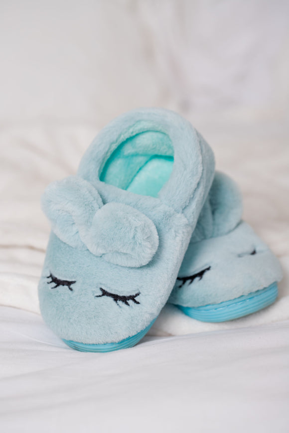 Slipper Pale Blue Bunny