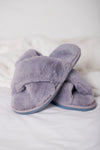 Slipper Grey Criss Cross