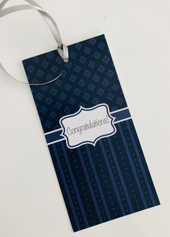 Blue Congratulations Gift Tag