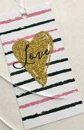 """Love"" Valentine's Day Gift Tag"