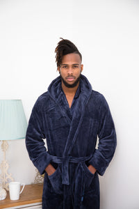 Robe Navy Supersoft Fleece with Hood