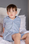 Boys Navy White Cotton Check PJ's