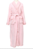 Super Soft Luxury Pink Waffle Collar Robe