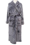 Robe Grey Waffle Collar Supersoft Fleece