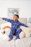 Boy Blue Stripe Fleece PJ SET