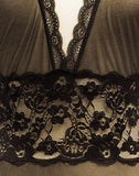 Negligee Stretch Black Lace Net Long