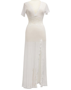 Negligee ONE White Lace Net Long