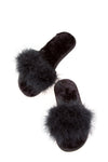 Feather Slipper Black