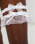 Wedding Garter Set White