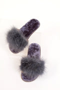 Feather Slipper Grey