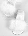 Feather Slipper White