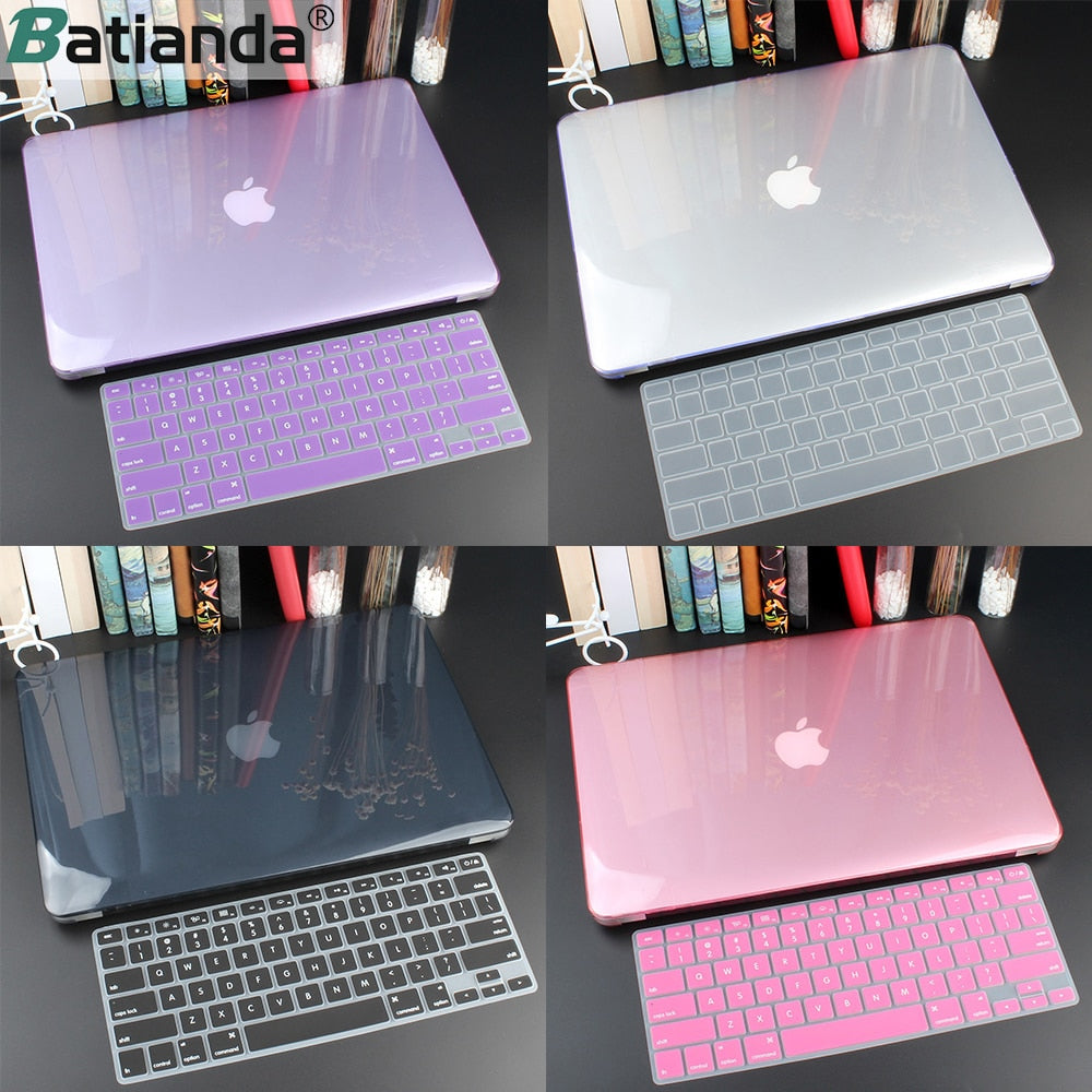 Crystal Hard Case For Macbook Air 13 Retina Pro  Hard Cover With Free Keyboard Cover