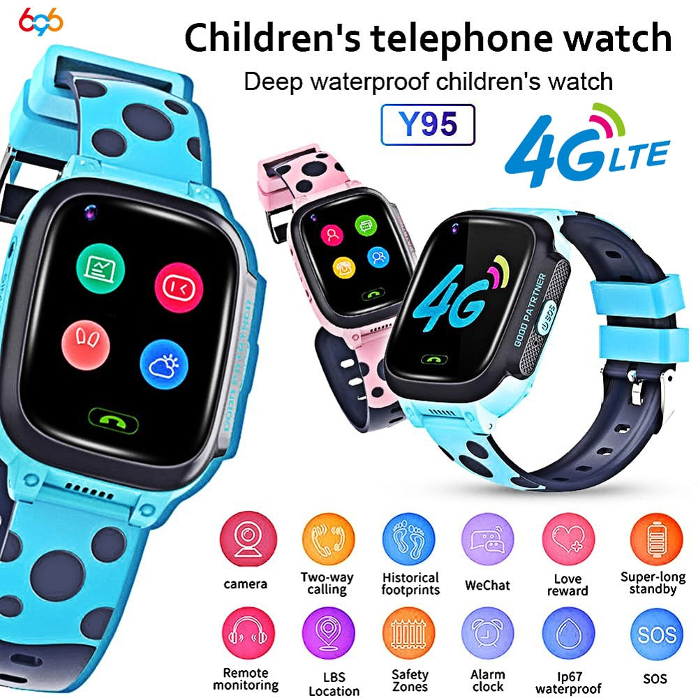 Y95 Child Smart Watch Phone GPS Waterproof Kids Smart Watch 4G