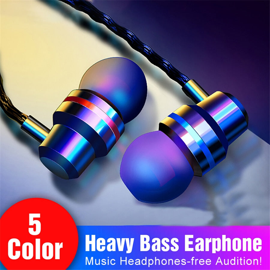 In-Ear Wired Earphone 3.5mm Earbuds Earphones Music Sport Gaming Headset With mic