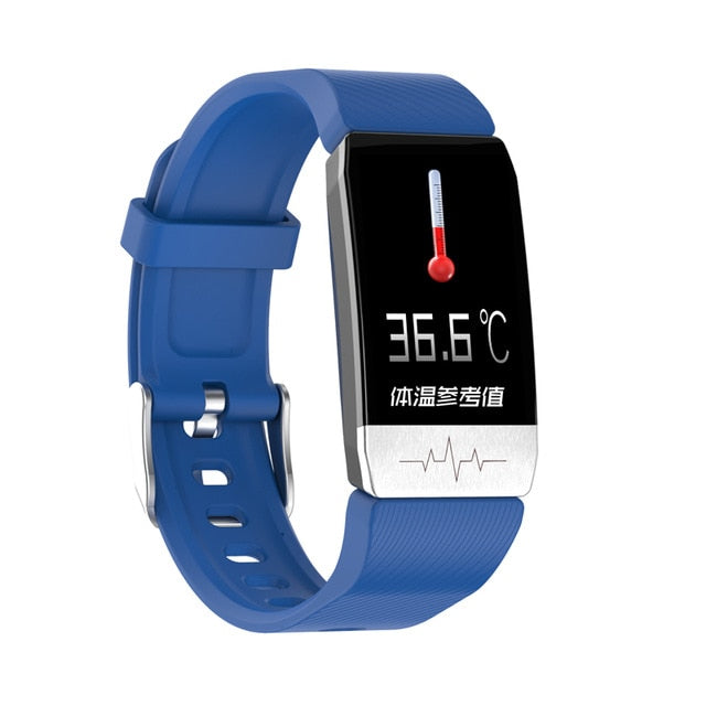T1 Smart Watch Band With Temperature Measure ECG Heart Rate Monitor