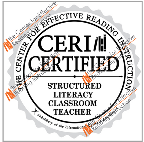 Structured Literacy Classroom Teacher PNG Digital Badge