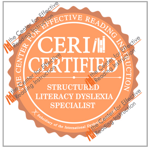 Structured Literacy Dyslexia Specialist PNG Digital Badge