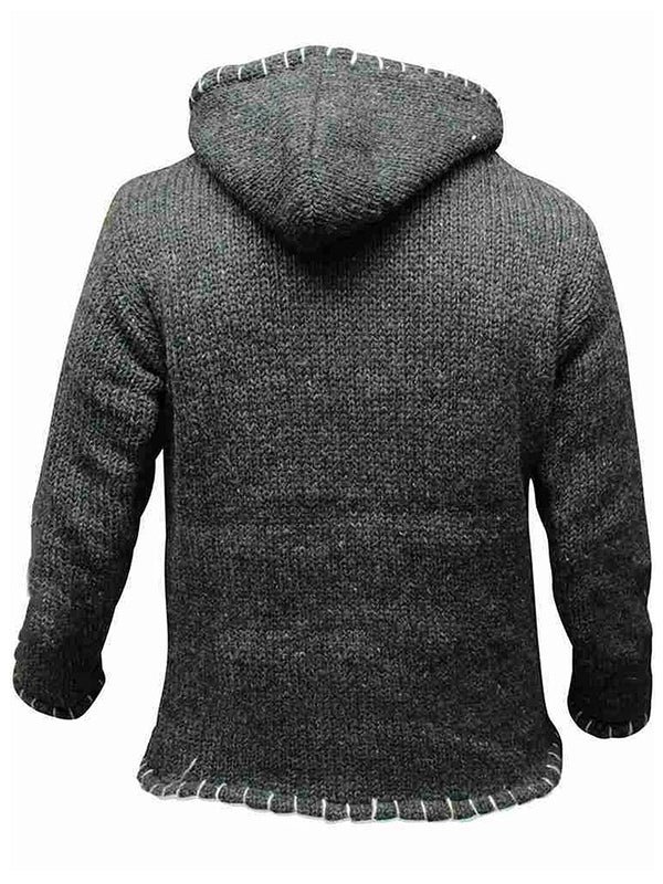 Men Lettuce Trim Patchwork Button Front Hoodie