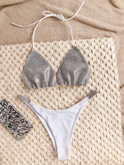 Shining Even Brighter Rhinestone Bikini Set