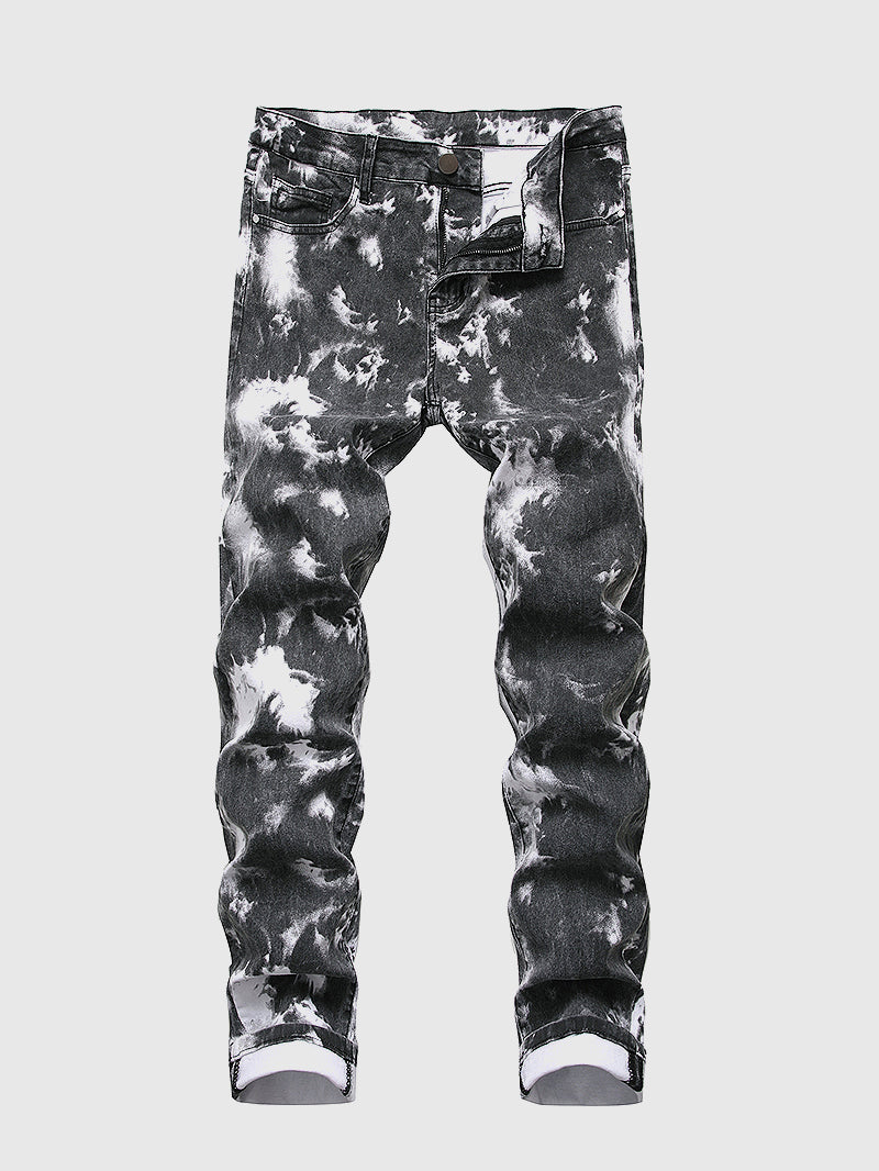 Men's Clound Tie Dye Jeans