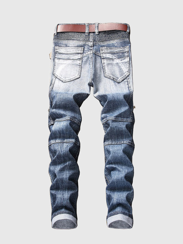 Men's Quilting Slim Fit Jeans