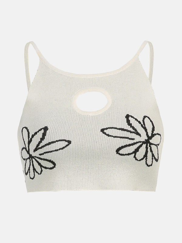 Floral Hollow Out Cami Top