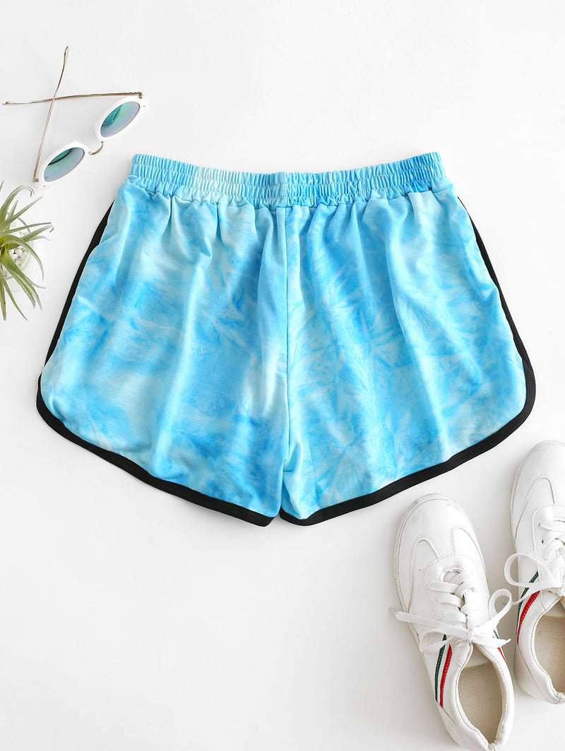 High Waisted Tie Dye Dolphin Shorts
