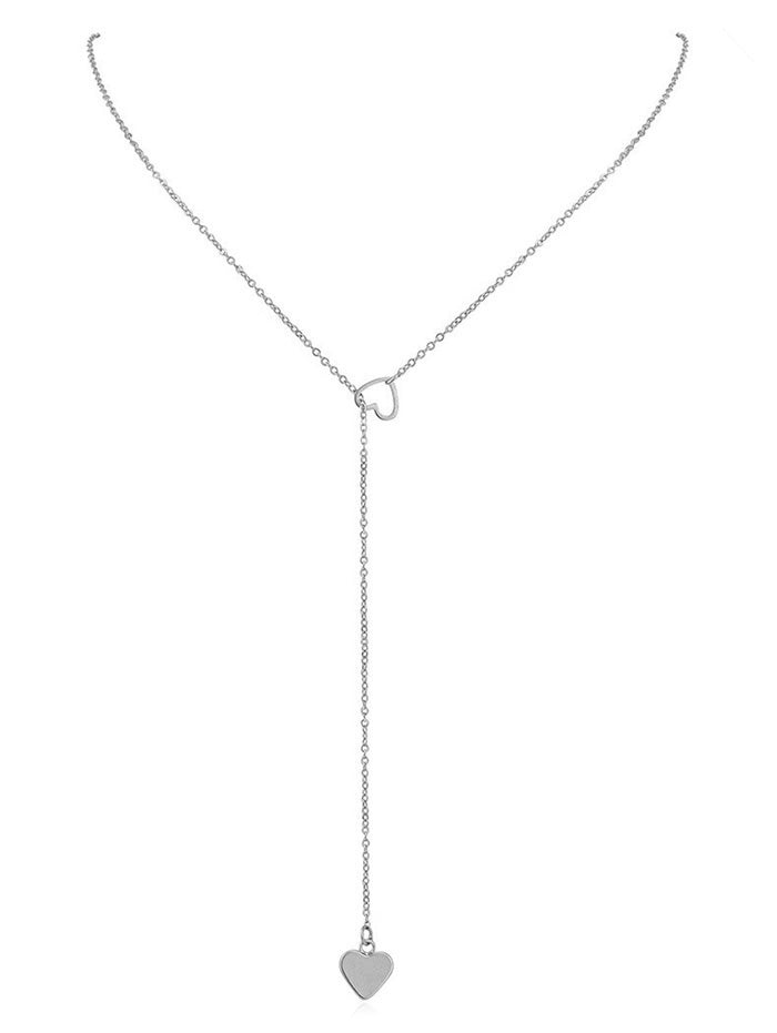 Heart Shape Hollow Lariat Necklace