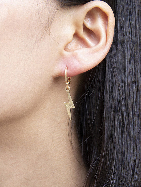 Lightning Huggie Drop Earrings