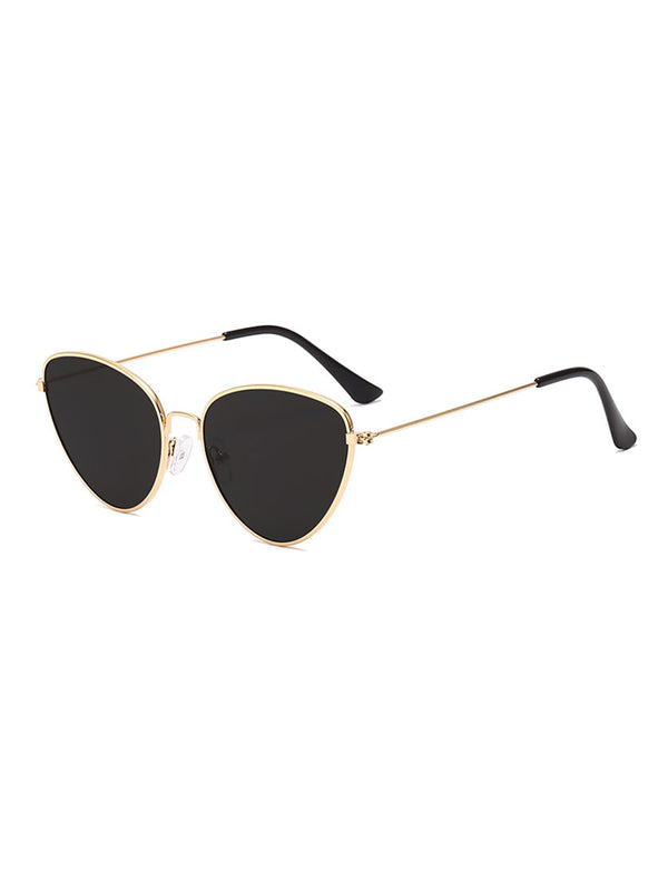 Outdoor Metal Triangular Pilot Sunglasses