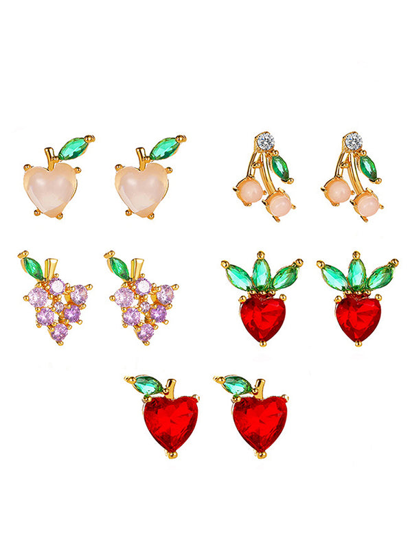 Fruit Charm Stud Earrings