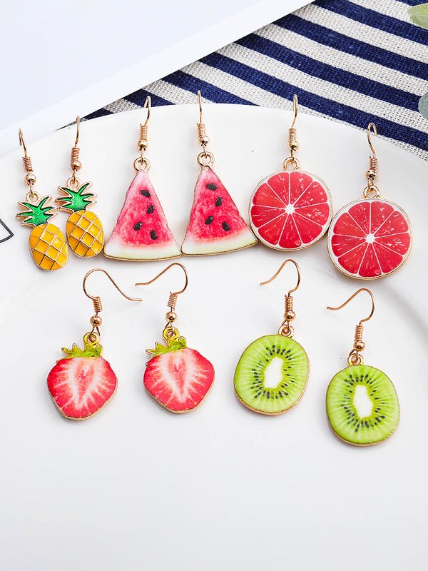 Fruit Charm Drop Earrings