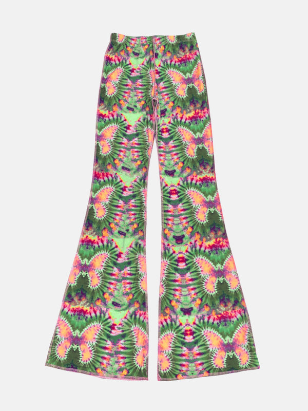Butterfly Print Bell Pants