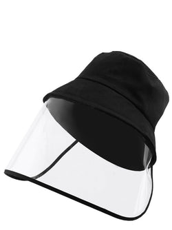 Detachable Face Shield Outdoor Protective Washable Bucket Hat