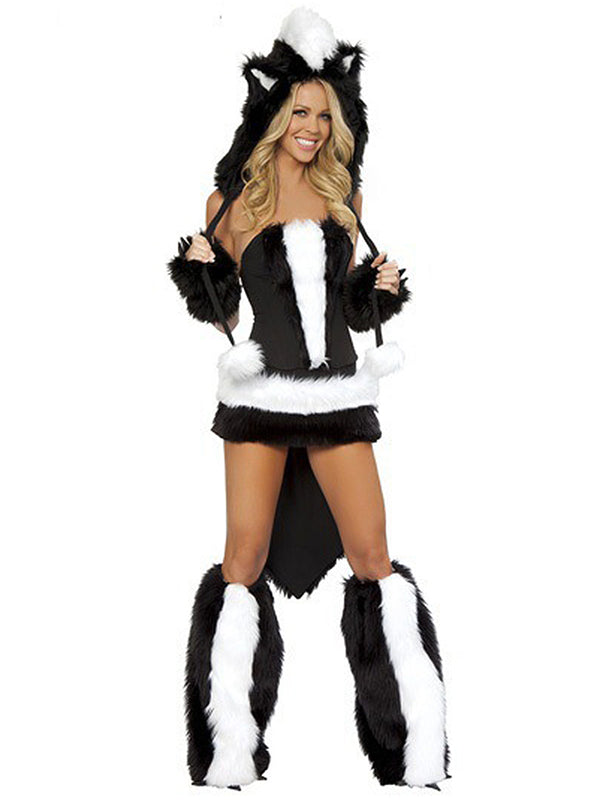 Halloween Animal Faux Fur Uniform