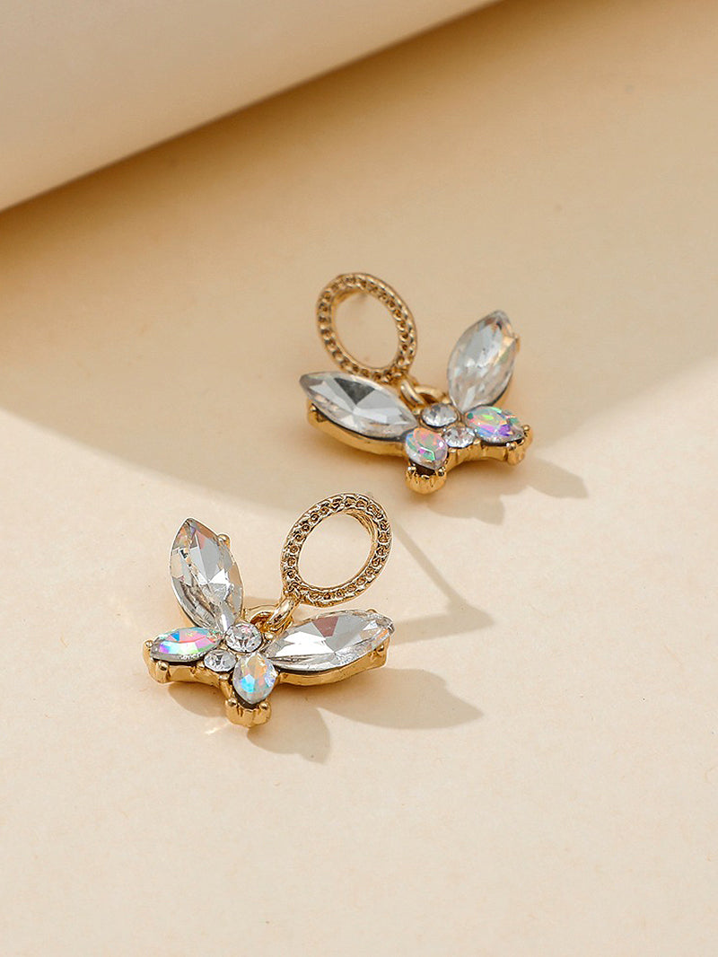 Fancy Diamond Butterfly Fairy Earrings
