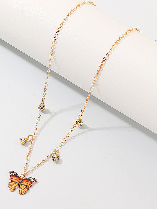 Butterfly Star Rhinestone Necklaces