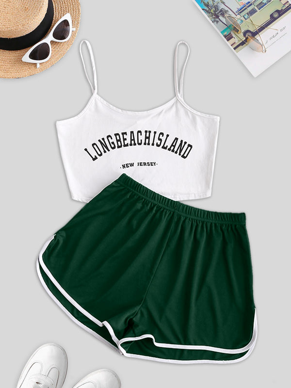 Cami Long Beach Island Graphic Two Piece Set