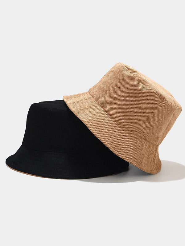 Solid Corduroy Bucket Hat
