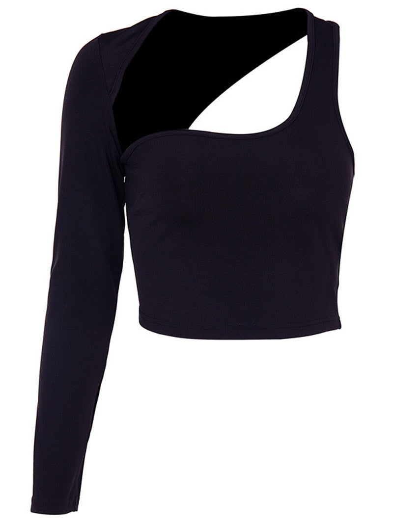 Hollow Out One Shoulder Top