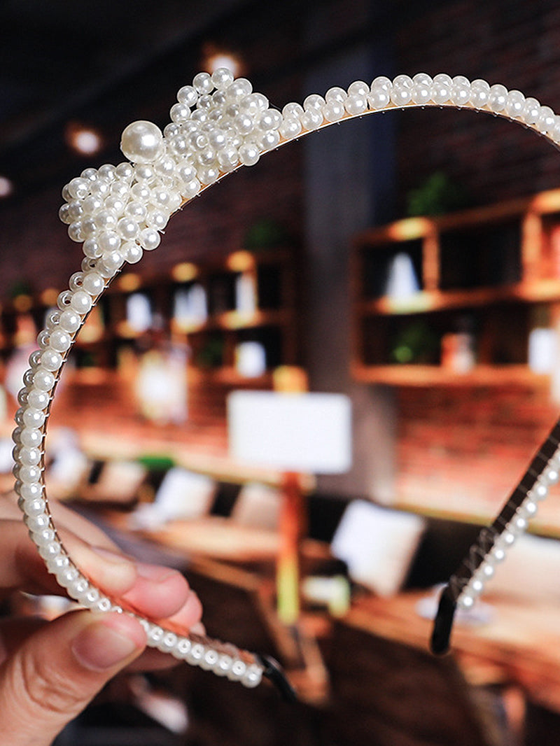 Faux Pearl Decor Hair Hoop