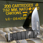 Medford USMC Fighter Flipper S35VN Blade Steel Tumbled Blade Finish Standard Grind PVD Handle PVD Lock Side  Standard Hardware PVD Clip Tumbled Pommel